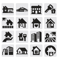 homes set vector image