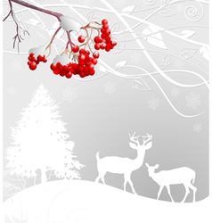Winter scene vector