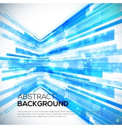 3D Perspective Abstract bright colorful background vector image