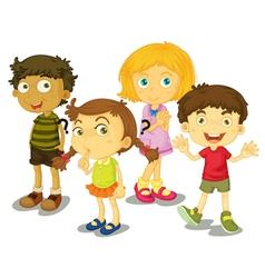 4 kids vector