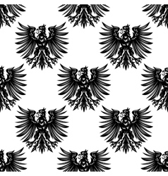 Heraldic eagles seamless pattern background vector image