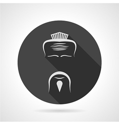 Japanese chef black round icon vector