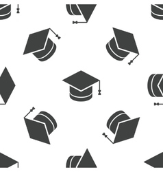 Academic hat pattern vector