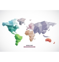 world map design Triangle pattern vector image