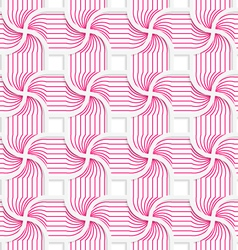 Colored 3d pink striped pedals with squares vector