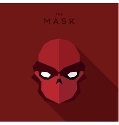 Anti-hero villain mask red abstract vector