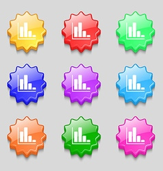 Infographic icon sign symbol on nine wavy vector