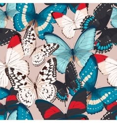 Colorful butterflies seamless vector