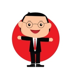 Japanese businessman vector