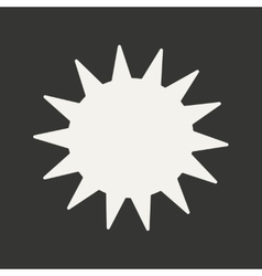 Flat in black and white mobile application sun vector