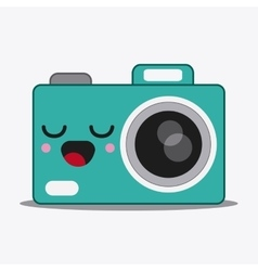 Camera icon kawaii and technology graphic vector