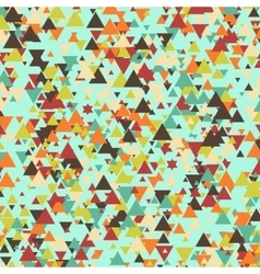Triangle multicolor mosaic background vector