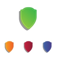 Shield sign  colorfull applique icons vector