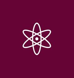 Atom icon simple vector