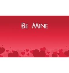 Be mine valentine theme art vector
