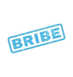 Bribe Rubber Stamp vector image vector image