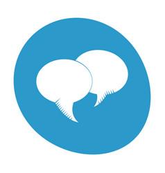 bubble speech communication dialog image vector image
