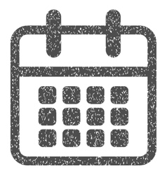 Calendar month days table grainy texture icon vector