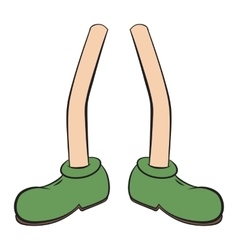 Cartoon foot stand vector