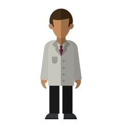 character doctor uniform health vector image