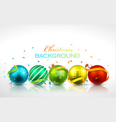 Christmas balls with reflection vector