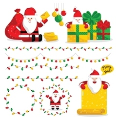 Christmas Santa Claus characters collection vector image