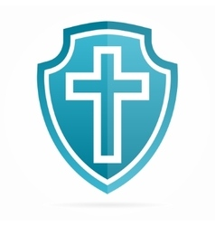 church cross logo vector image vector image