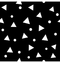 Circle and triangle seamless pattern vector image