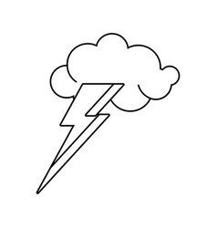 cloud lightning idea outline vector image vector image