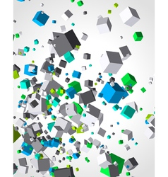 Colorful cubes burst background vector image vector image