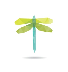 Dragonfly abstract isolated vector image vector image