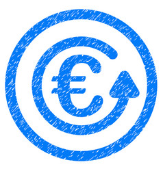 Euro chargeback rounded icon rubber stamp vector