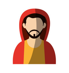 Faceless man wearing hoodie avatar icon image vector