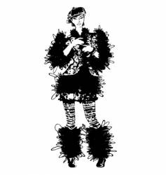 fashion fur coat vector image