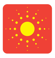 Flat color sun icon vector