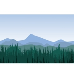 Forest mountain panorama vector