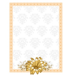 Frame with floral vector