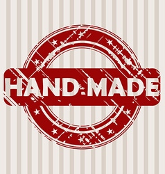 Grunge rubber stamp with hand made vector