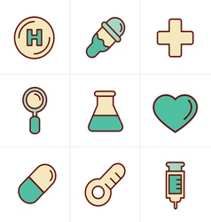 Icons Style Medical Icons Set Design vector image vector image