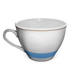 isolated white cup made with mesh vector image