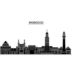 Morocco architecture city skyline travel vector