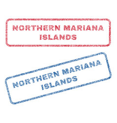 Northern mariana islands textile stamps vector