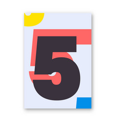 Number 5 poster vector