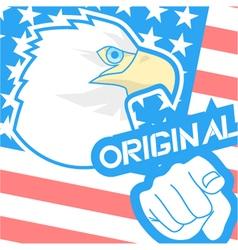 Original american flag vector