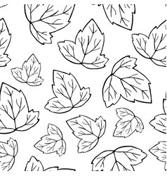 outlined leaf pattern vector image vector image