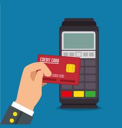 Payment terminal design vector