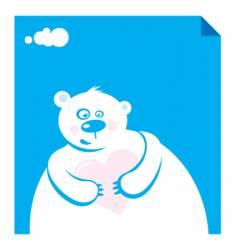 polar bear in love vector image