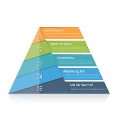 Pyramid Chart vector image vector image