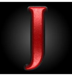 Red plastic figure j vector