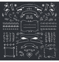 set of hand drawn vintage dividers frames vector image vector image